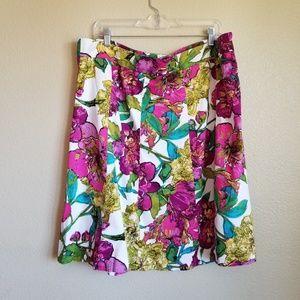 lane bryant floral plus size skirt